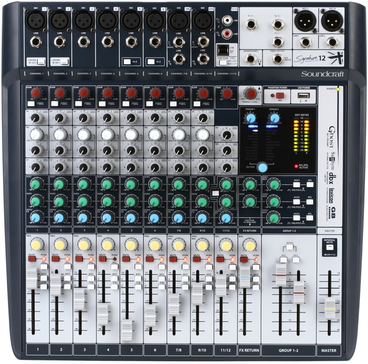 MIXER SOUNDCRAFT SIGNATURE-12